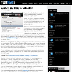 App Gets You Ready for Voting Day