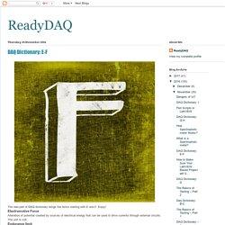 ReadyDAQ: DAQ Dictionary: E-F