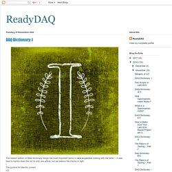 ReadyDAQ: DAQ Dictionary: I
