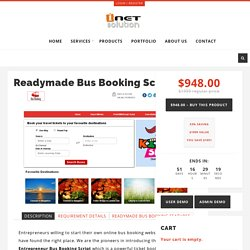 Readymade Bus Booking Script – i-Netsolution – Readymade PHP Scripts
