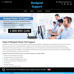 Readynet Router Technical Support