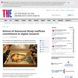 School of Advanced Study reaffirms commitment to digital research