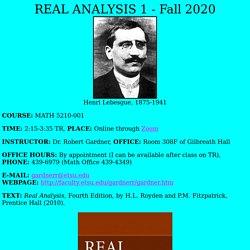 """""""Real Analysis 1"""" webpage"""