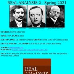 """""""Real Analysis 2"""" webpage"""