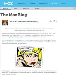 The REAL Benefits of Guest Blogging