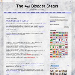What's The BlogID Of My Blog?