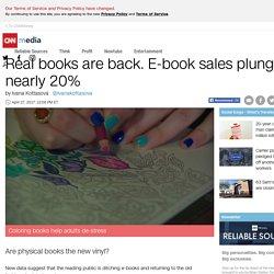 Real books back. E-book sales plunge 20% - Apr.2017