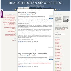 Real Christian Singles Blog