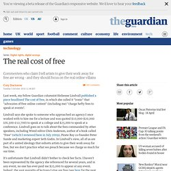 The real cost of free