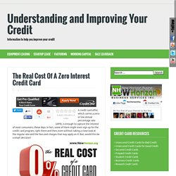 real cost of 0 interest credit cards