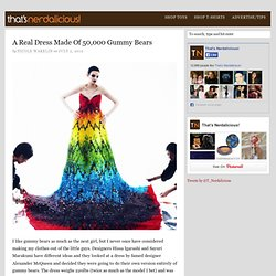 A Real Dress Made Of 50,000 Gummy Bears