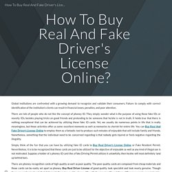 How To Buy Real And Fake Driver's License Online?