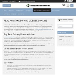 Buy Real Driver License online