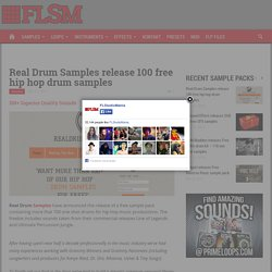 Real Drum Samples release 100 free hip hop drum samples