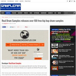 Real Drum Samples releases over 100 free hip hop drum samples