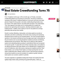Real Estate Crowdfunding Turns 75