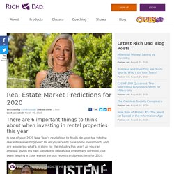 Real Estate Market Predictions for 2020