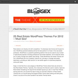 25 Real Estate WordPress Themes For 2012 – Must See!