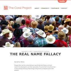 The Real Name Fallacy – The Coral Project