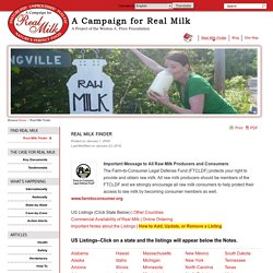 Where Can I Find Real (Raw) Milk?