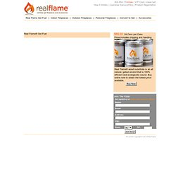 Real Flame Gel Fuel for ventfree fireplaces