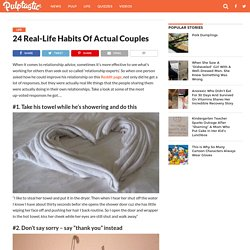 24 Real-Life Habits Of Actual Couples