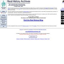 Real History Archives Home Page