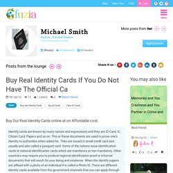 Buy real identity cards if you do not have the official ca