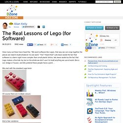 The Real Lessons of Lego (for Software)
