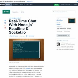 Real-Time Chat With Node.js' Readline & Socket.io