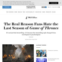 Writing of Last Season - Scientific American