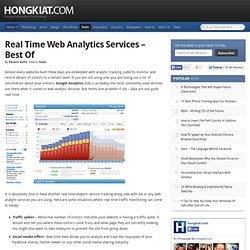 Real Time Web Analytics Services - Best of