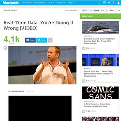 Real-Time Data: You're Doing It Wrong