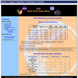 ACE Real Time Solar Wind Data page