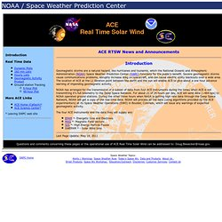 ACE Real Time Solar Wind main page