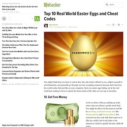 Top 10 Real World Easter Eggs and Cheat Codes