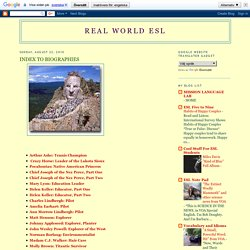 Real World ESL: August 2010 - audio biographies