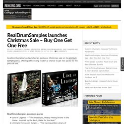 RealDrumSamples Christmas Sale - Buy One Get One Free