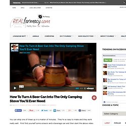 DIY: Beer Can Into Camping Stove