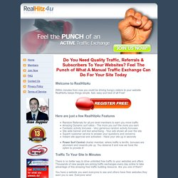 RealHitz4u Manual Traffic Exchange