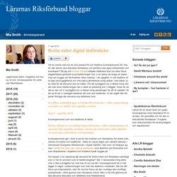 Realia möter digital läsförståelse - Mia Smith