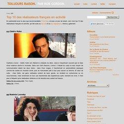 Top 10 des réalisateurs français en activité