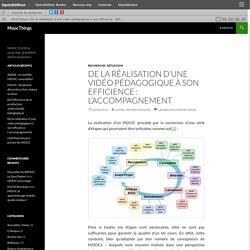 De la réalisation d'une vidéo pédagogique à son efficience : l'accompagnement