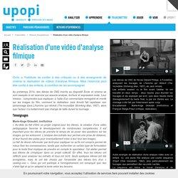 Réalisation d'une vidéo d'analyse filmique