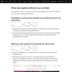 Réalisation d'une capture d'écran sur votre Mac