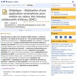 GlideApps - Réalisation d'une application smartphone en collaboratif (EMC) - Odyssée : Histoire Géographie EMC