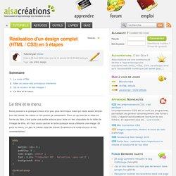 Réalisation d'un design complet (HTML / CSS) en 5 étapes