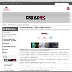 Master ERD, Ecriture et Réalisation Documentaire – Créadoc