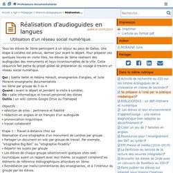 Réalisation d'audioguides en langues- Les Enseignants Documentalistes de l'Académie de Poitiers
