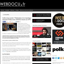Cafés (trop) serrés ? Réalisation d'un reportage interactif HTML5 avec 3WDOC Studio au CFPJ